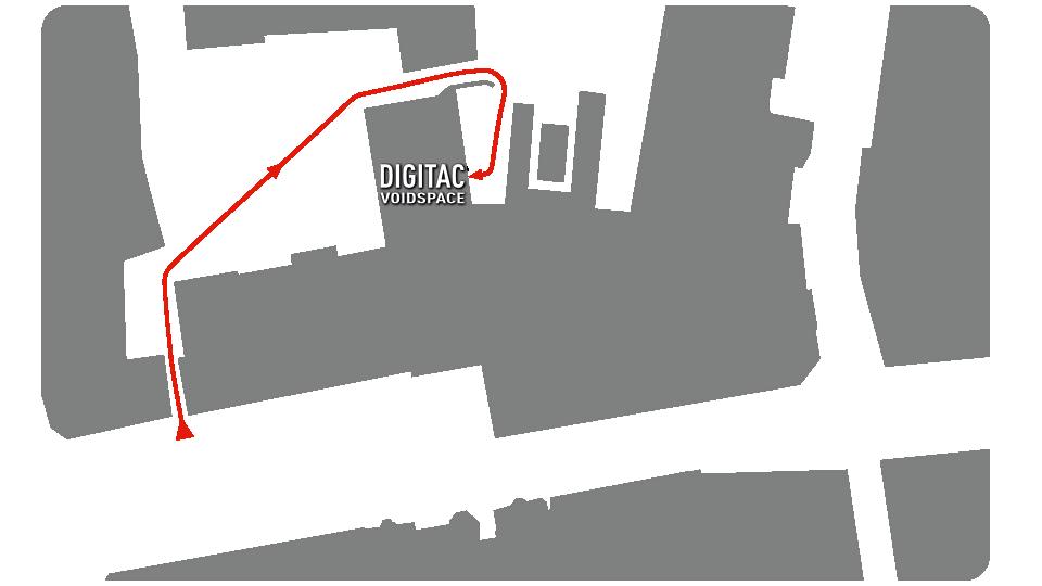 Wegbeschreibung zum Digitales Aachen e.V. / Digitac:Voidspace